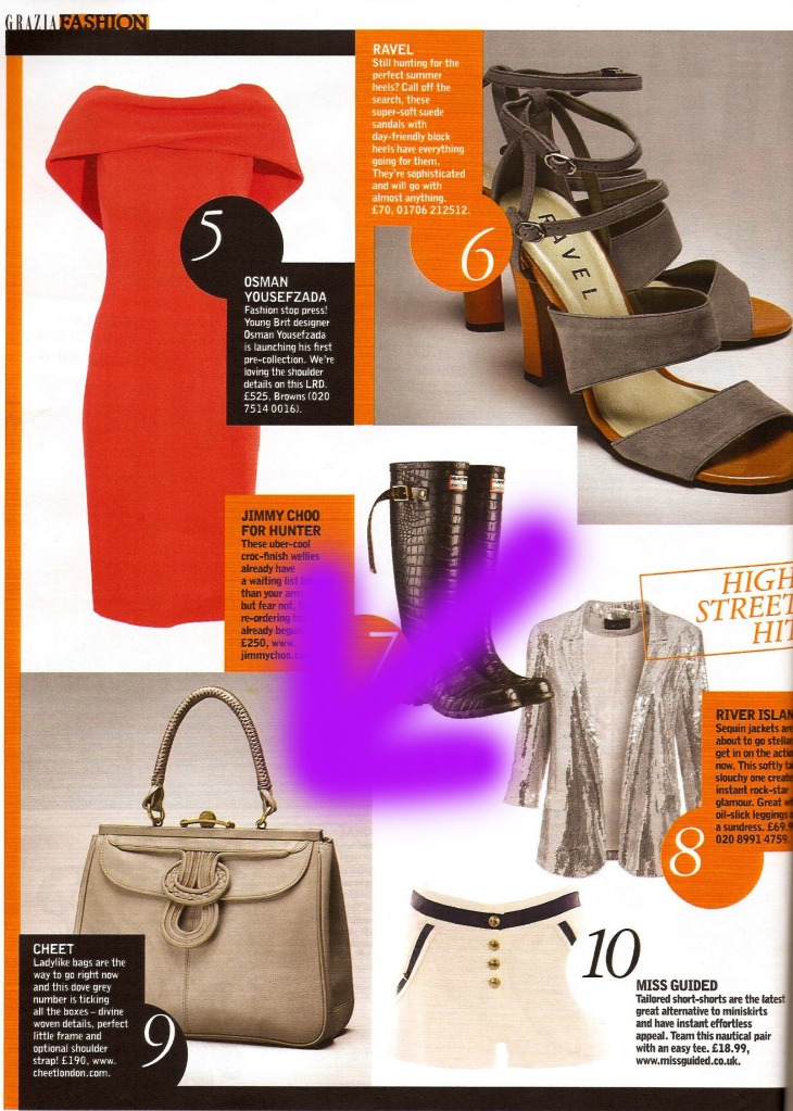 Cheet in Grazia back in June