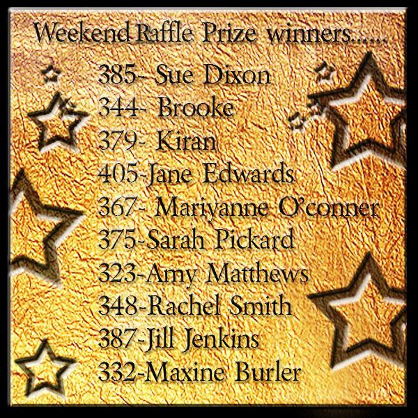 Raffle prize winners!