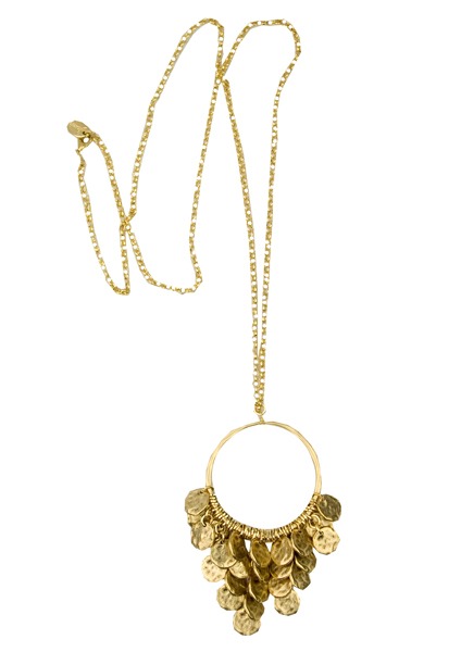 jamie sienna disc necklace-gold
