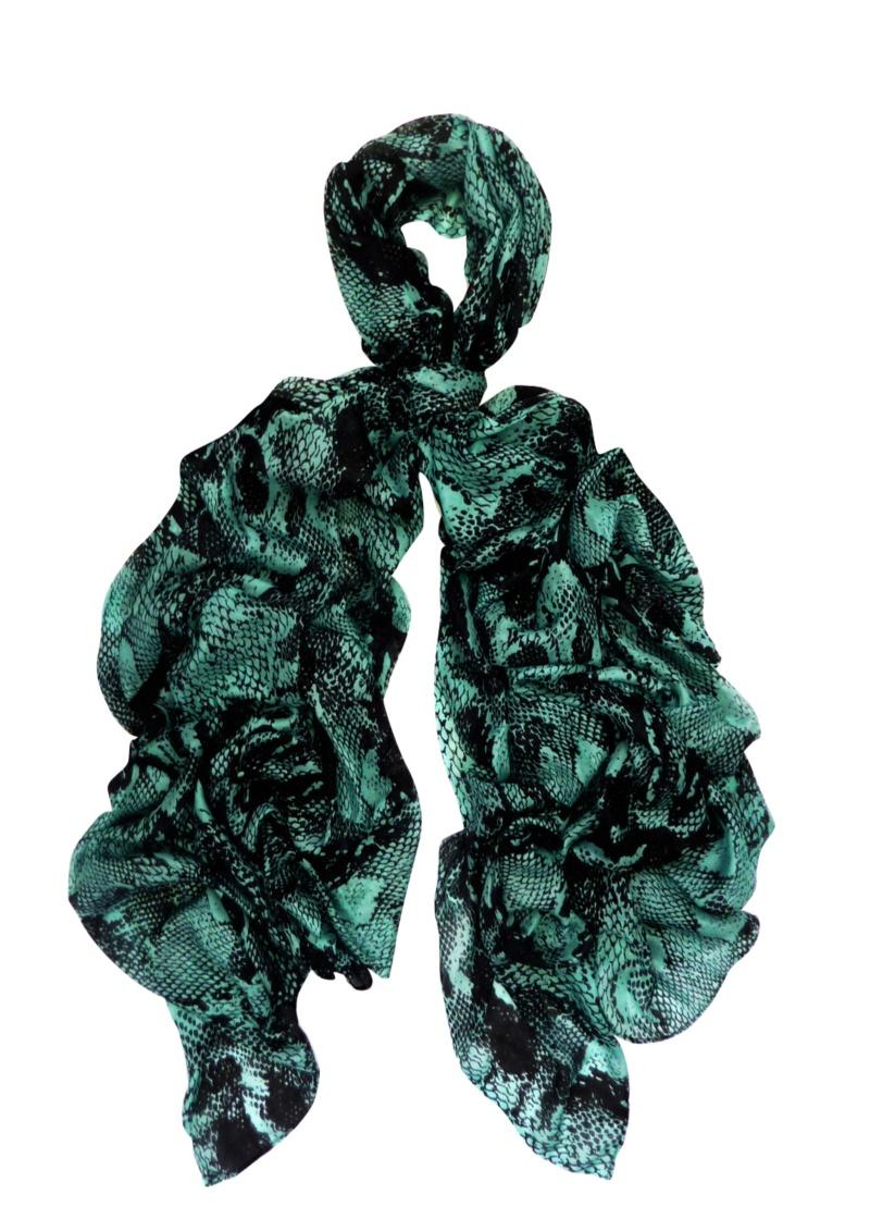 oversized python print - Turquiose