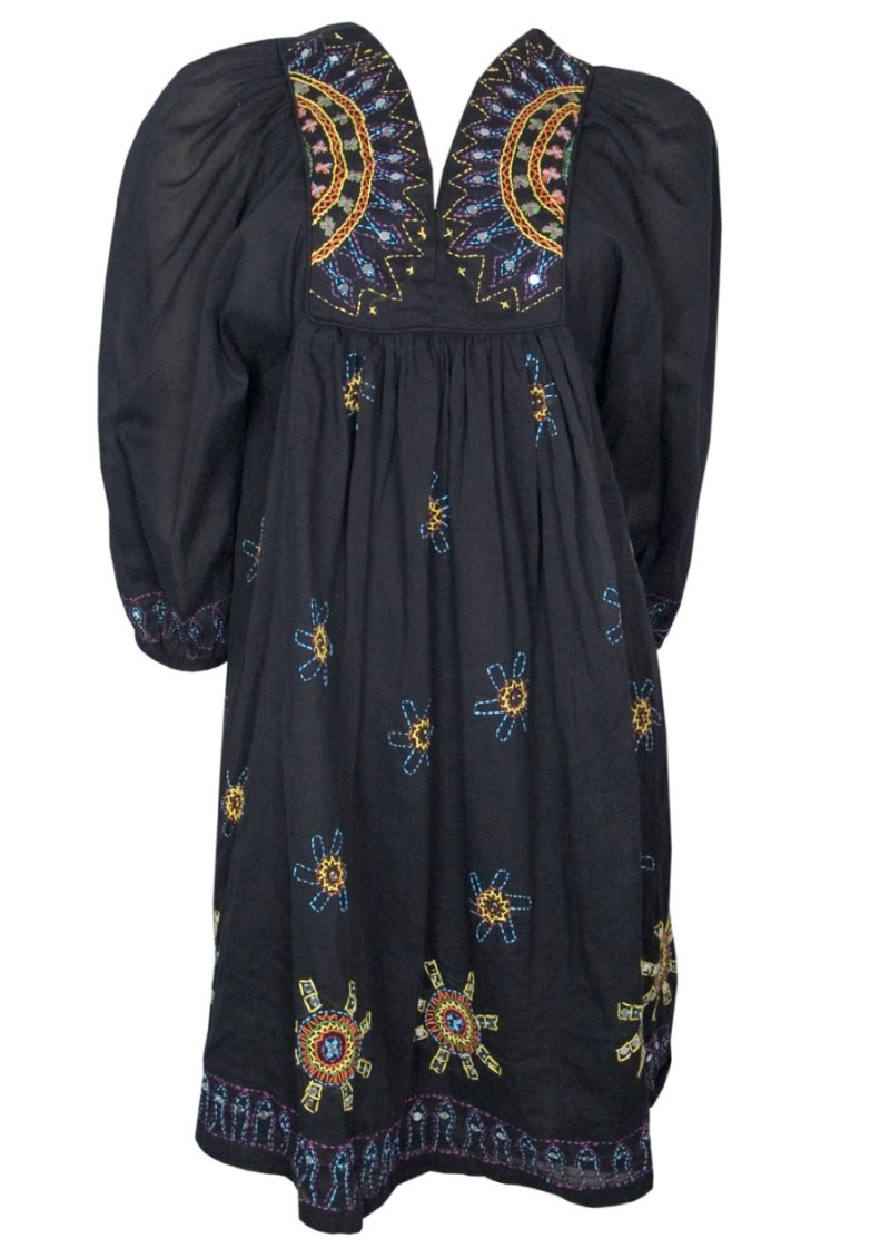 Antik Batik-Hippy Dress-Black