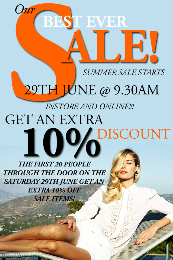 27 June Summer Sale