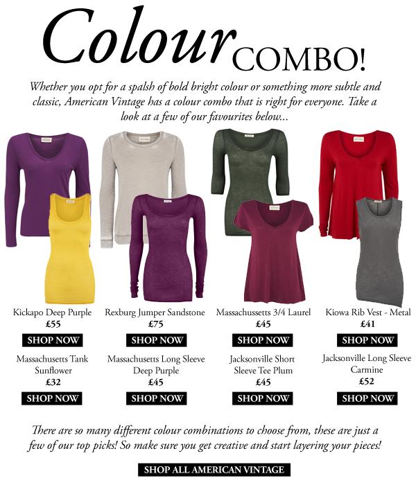 American Vintage Colour Combinations