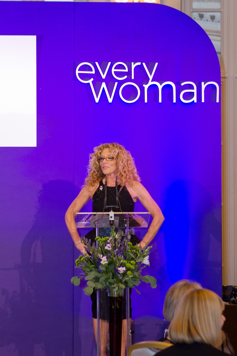 Dragons Den star and interior design legend, Kelly Hoppen on stage