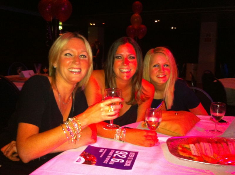 Deryane, Natalie & Becky eagerly awaiting the awards!