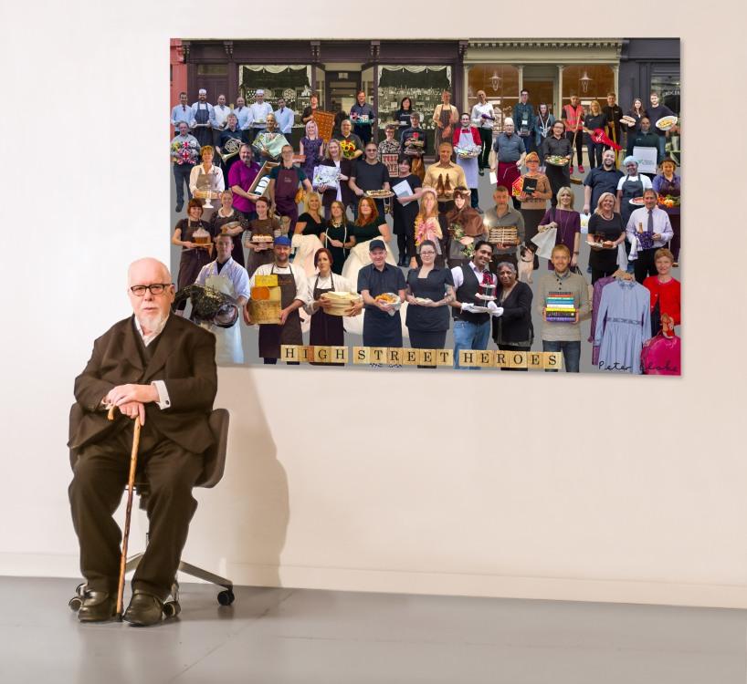 SIR PETER BLAKE UNVEILS NEW ARTWORK CELEBRATING NATION OF SHOPKE