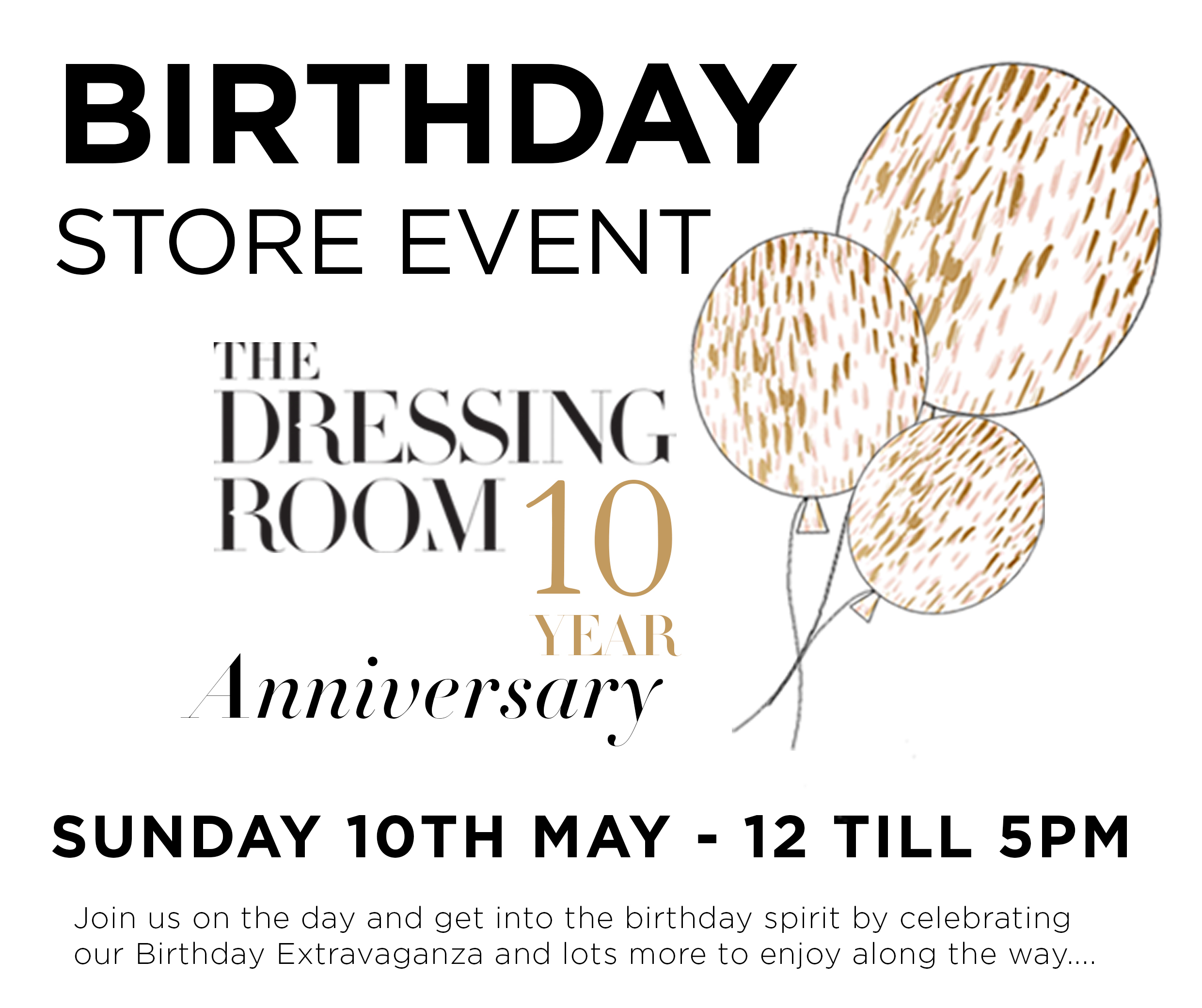 Invitation 10th Birthday In Store Event The Dressing Room Fashion