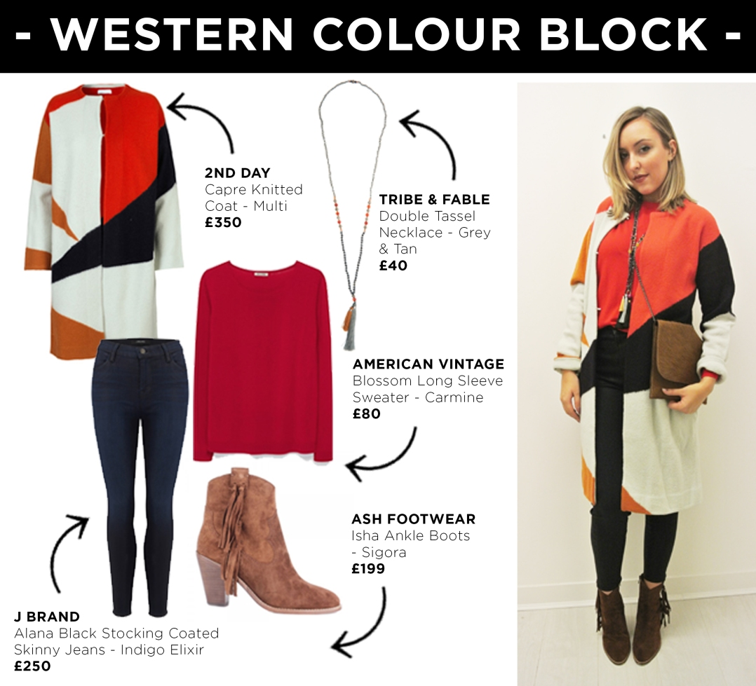 Look 2 - Western Colour Block