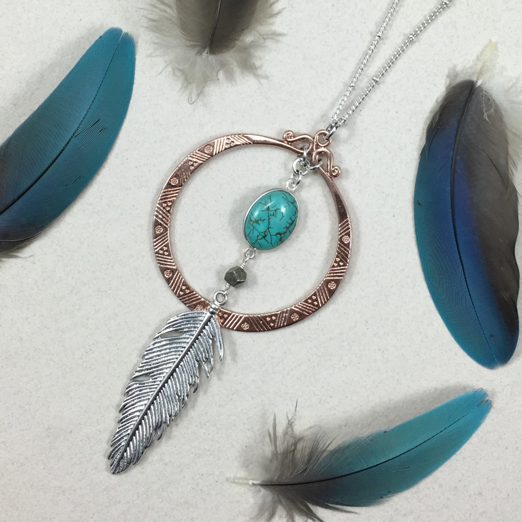Feather In The Wind Necklace
